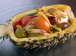 Mixed Fruit Salad in Pineapple